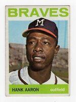 1964 Topps Hank Aaron Milwaukee Braves #300 Baseball Card