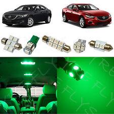 8x Green LED lights interior package kit for 2014 & Up Mazda Mazda6 MS3G