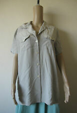 Marks & Spencer Pale Green Long Silky Shirt, Size 14 - 16, Button up Blouse