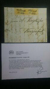 ÖSTERREICH 1852 3*1kr 3-STREIFEN! Brief VILLACH nach KLAGENFURT. Kw:2500,-€! VÖB