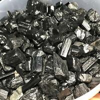 100g Natural Black Tourmaline Crystal Stone Gem Original Mineral Specimen 100g