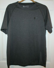 EUC Mens UNDER ARMOUR Gray Sports T-Shirt Tee ~ Loose ~ Heatgear ~ Medium