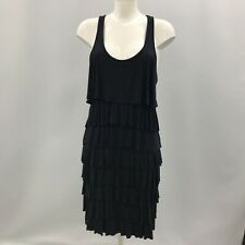 Michael Kors Dress Medium Navy Casual Ruffled Stretch Women's Sleeveless 280989