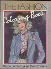 The Fashion Coloring Book: Sharon Tate (1984) 1980s Vintage Adult Coloring Book