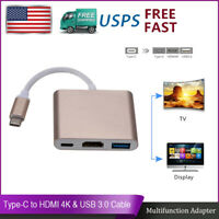 USB Type-C To HDMI Adapter TV AV Video Cable For LG G Pad X II 10.1 XII GPad