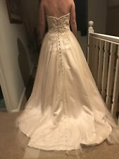 New Size 10 Sweetheart Strapless Champagne Wedding / Formal Dress