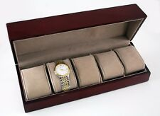 6 WATCH CASE BOX WOOD DISPLAY STORAGE HOLDERWATCHES