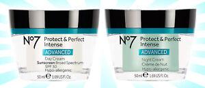 2 No7 Protect & Perfect Intense ADVANCED Day & Night Cream Set 1.69 OZ