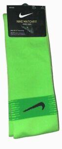 Nike Matchfit Dri-Fit One Pair Mens Soccer Socks Green SIZE XL 12-15