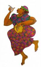 """""""HAPPY"""" Limited Edition 200 Ethnic Artwork Expressionism 2000-Now Charles Bibbs"""