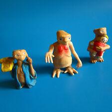 VTG 80s ET Wind Up Toy & PVC Figure LOT 1980s retro movie phone doll plastic