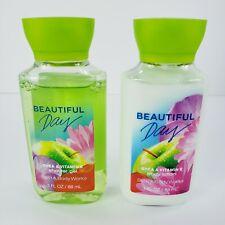 Beautiful Day Travel Set Bath and Body Works Body Lotion Shower Gel 3 oz Each