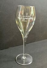 Taittinger Remis Etched Crystal Champagne Flute Tulip Glass Mint