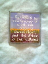 New fridge magnet with scenery and words