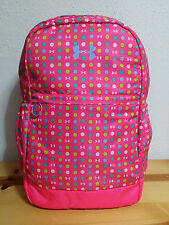 """NEW Under Armour Girls Favorite Backpack Black Harmony Red Large Fits 17"""" Laptop"""