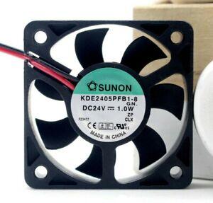 "SUNON Cooling Fan KDE2405PFB1-8 5010 DC 24V 1.0W 5CM 50x50x10mm 2""x2""x0.4"""