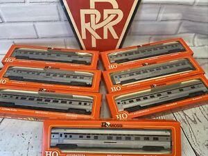Rivarossi HO Scale Pennsylvania Pullman set of 7 Classic PRR. G&M. Washington