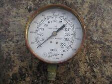 Vintage Brass Pressure Gauge 3 34 Viking Corp Hastings Mi Us Gauge Steampunk