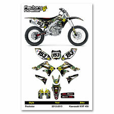 2012-2015 KAWASAKI KXF 450 Camouflage Rockstar Dirt Bike Graphics by Enjoy MFG