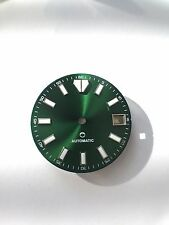 Seiko Custom 28.5mm Green Sunburst Dial Applied Indices w/Date 4:00 Mod Parts