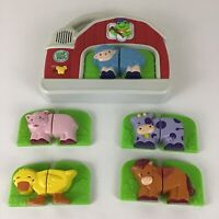 Tad Fridge Farm Leap Frog Animals Learning Magnetic Set Toy 100% Complete Tested