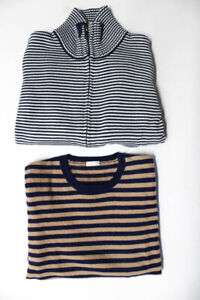 Il GufoPetit Bateau Boys Striped Sweaters Brown Navy Blue Size 10 Lot 2