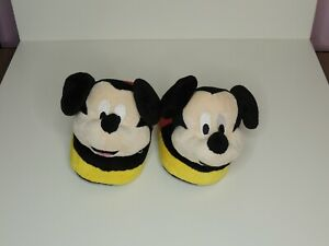 Mickey Mouse Red 3D Stompeez Slippers Childrens Nightwear XS UK 7/8/9