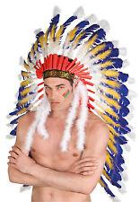 Coyote Indianerhäuptling Kopfschmuck NEU - Karneval Fasching Hut Mütze Kopfbedec