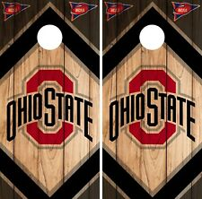 Ohio State Buckeyes Cornhole Wrap NCAA Board Skin Vinyl Decal Vintage Set CO726