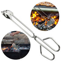 Stainless Steel Bread BBQ Food Tongs Charcoal Clip Grill Outdoor Kitchen Tools