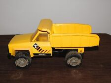 "VINTAGE  TRUCK TOY  13 1/2"" LONG TONKA YELLOW METAL DUMP TRUCK"