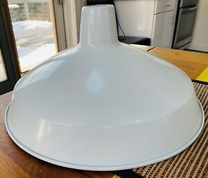 Industrial Retro Lampshade, white metal