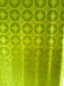 60er 70er Vorhang Gardine Stoff Space Age grün