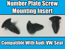 10x Black Number Plate Bumper Wheel Arch Screw Mounting Insert Grommet For Audi