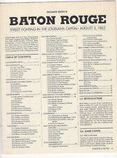 STRATEGY & TACTICS #133 GAME ONLY BATON ROUGE 1862 UNPUNCHED 1990 3W