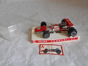 politoys 1/32 F1 Series No 2 Ferrari  Derek Bell boxed excellent