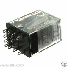 PLUG IN RELAY MY4N 24VAC with LED 4pole 14 PIN x 10 pcs
