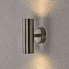 Außenwandleuchte Hakan 2-flammig Edelstahl Außenwandlampe Modern Hauswand