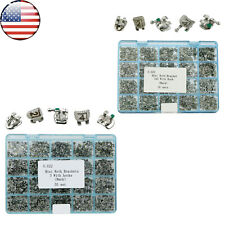 1000 Pcs Dental Orthodontic Metal Bracket Mini Roth 022 3/3 4 5 Hooks Laser Mark