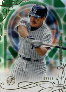 2015 Topps Tribute Green #23 Wade Boggs SER #/99  BX T2F