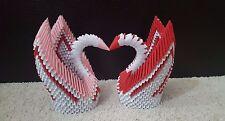 Best Seller 3D Handmade Origami Valentine Holidays White & Red Beautiful Swan