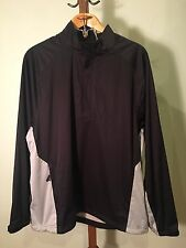 Men's Zero Restriction 1/4 Zip Golf Pullover Xl Black And Gray Euc