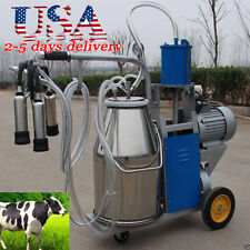 Portable Electric Milking Machine for Cows Bucket Stainless Steel Bucket Usa