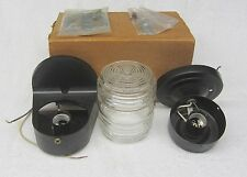Vtg PORCH LIGHT FIXTURE Sconce JELLY JAR Glass Globe Mid Century NOS NEW in Box