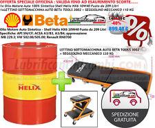 Olio Motore Auto Shell Helix HX6 10W 40 -209L + LETTINO SOTTOMACCHINA AUTO BETA