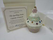 Lenox China Sparkling Sweets Cupcake Ornament Crystal Gems Coa Nib