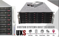 UXS Server 4U 24 Bay Direct Attached Storage X9DRI-LN4F+ FREENAS JBOD ZFS Docker