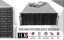 UXS Server 4U 24 Bay Direct Attached Storage X9DRI-LN4F+ FREENAS JBOD ZFS Docker
