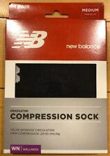 New In Box New Balance Graduated Compression Sock Medium Black 1 Pair OTC