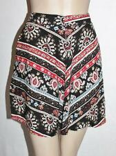 Chica Booti Brand Red Black Floral Day Skirt Size 8 BNWT #SH25